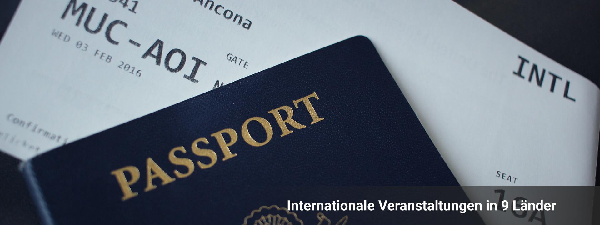Internationale Veranstaltungen in 9 Länder
