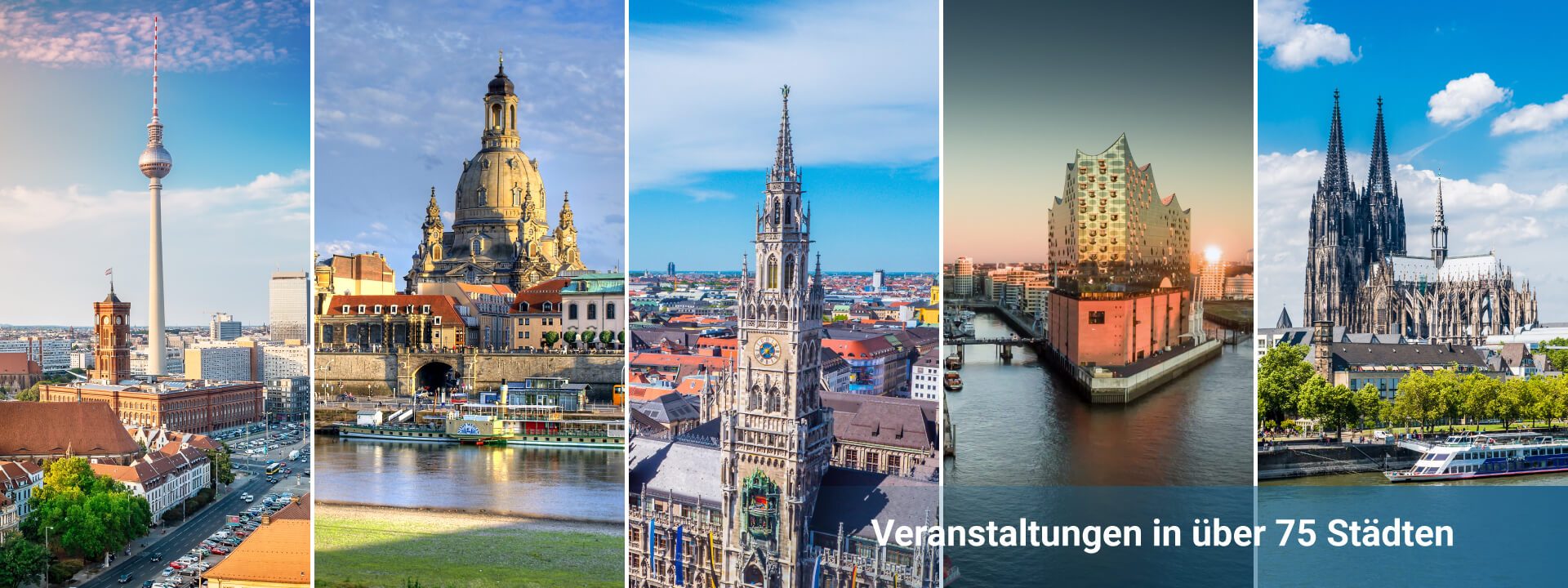 Veranstaltungen in über 75 Städten